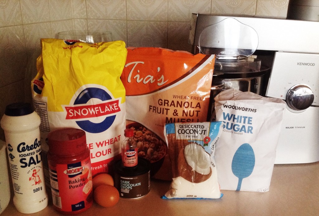 Muesli choc chip ingredients