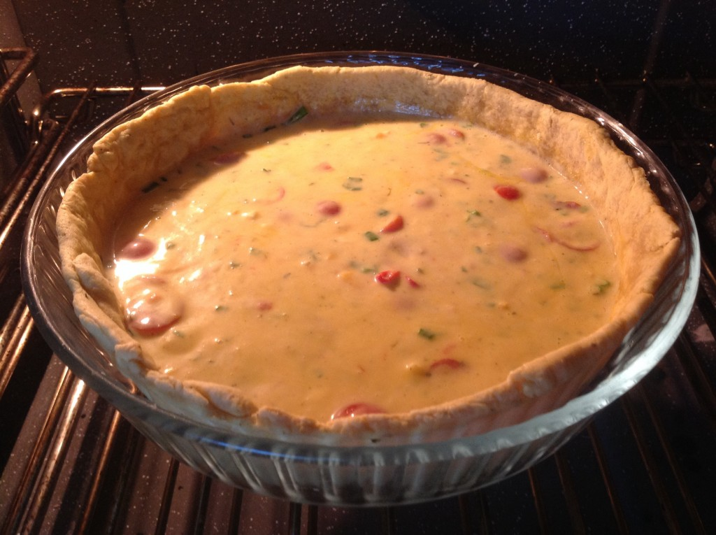 Unbaked Kiss me quiche