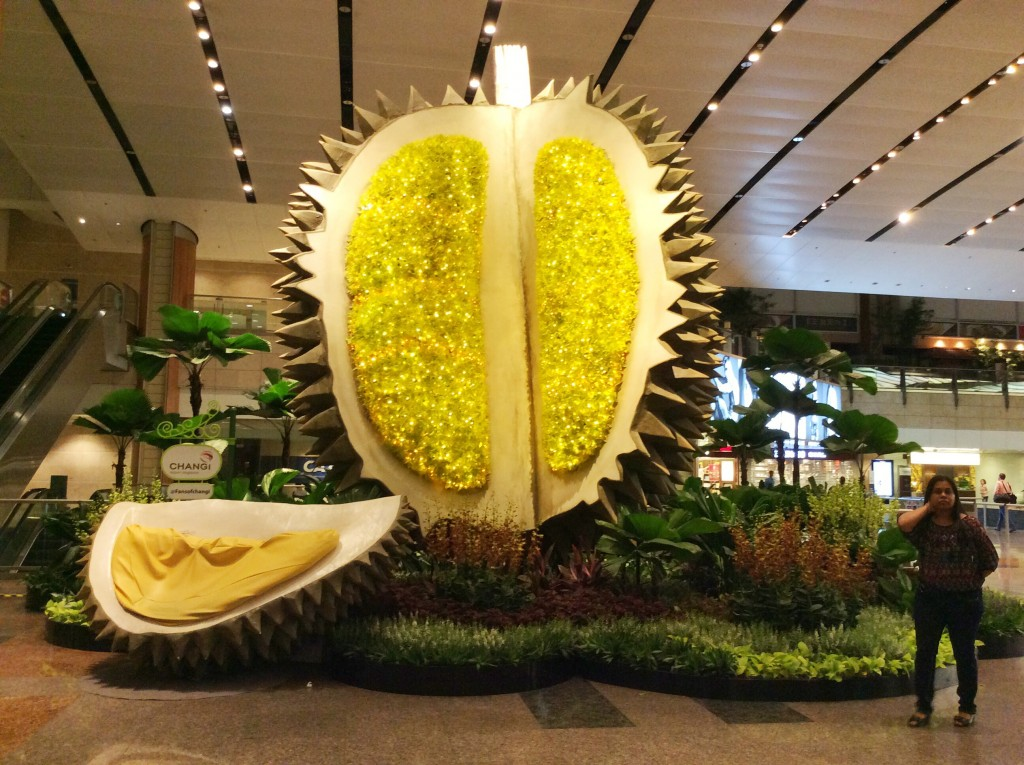 Giant durian Singapore airport TheRainqueen.com