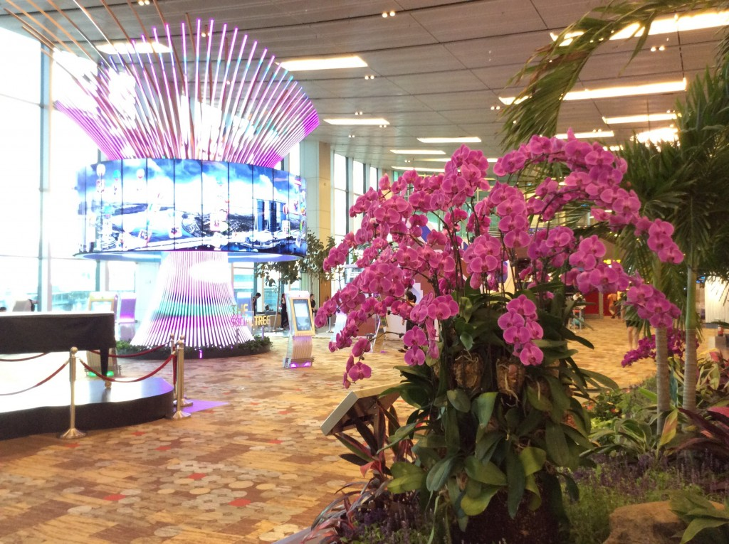 Electronic Supertree at Singapore airport