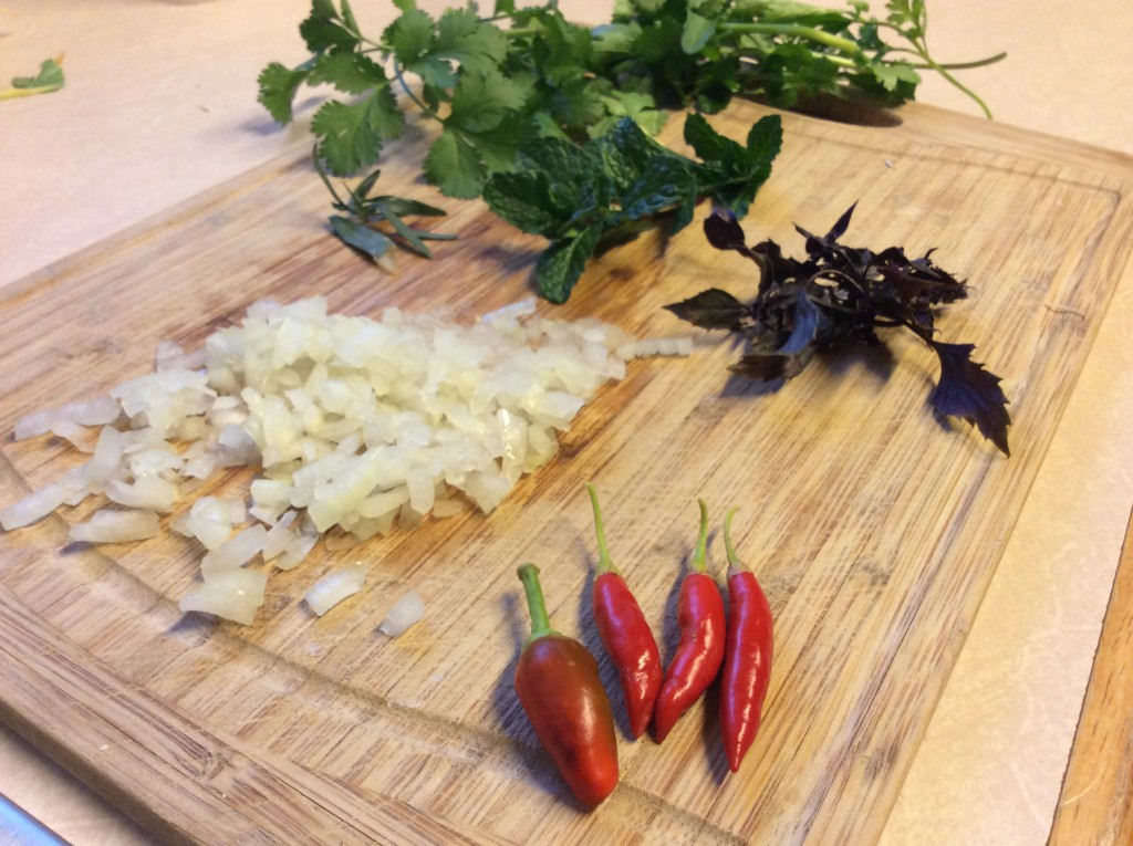 Baked Chilli bites ingredients